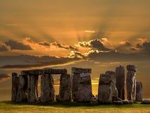 Stonehenge - Wiltshire - Engeland Royalty-vrije Stock Foto's