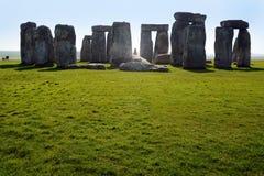 Stonehenge in Wiltshire, Engeland wordt genomen dat Royalty-vrije Stock Afbeelding
