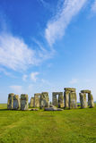 Stonehenge in Wiltshire in England in cloudy weather Stock Images