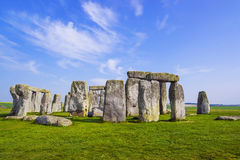 Stonehenge in Wiltshire of England in cloudy weather Royalty Free Stock Photo
