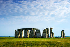 Stonehenge in Wiltshire in the Great Britain. In cloudy weather. It is a prehistoric monument, in Wiltshire in South West England. It is under protection of royalty free stock photos