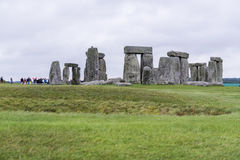 STONEHENGE, WILTSHIRE, UK - AUGUST 17: The ancient archeological Royalty Free Stock Photo