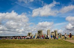 Stonehenge in Wiltshire, UK. On 13 August 2016 royalty free stock images