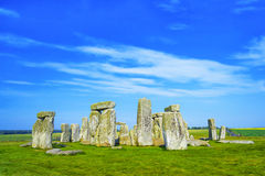 Stonehenge in Wiltshire in UK in cloudy weather Royalty Free Stock Photos