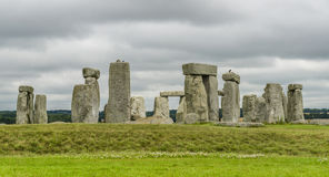 Stonehenge, WILTSHIRE, UK. Stonehenge, one of the wonders of the world and the best-known prehistoric monument in Europe located in Wiltshire in UK royalty free stock photography