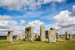 Stonehenge in Wiltshire, UK. On 13 August 2016 royalty free stock image