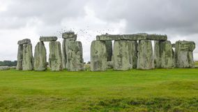 Stonehenge, Wiltshire, United Kingdom, England. Stonehenge is a prehistoric monument in Wiltshire, England, 2 miles 3 km west of Amesbury. It consists of a stock image