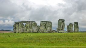 Stonehenge, Wiltshire, United Kingdom, England. Stonehenge is a prehistoric monument in Wiltshire, England, 2 miles 3 km west of Amesbury. It consists of a stock images