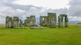 Stonehenge, Wiltshire, United Kingdom, England. Stonehenge is a prehistoric monument in Wiltshire, England, 2 miles 3 km west of Amesbury. It consists of a royalty free stock photo