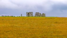 Stonehenge, Wiltshire, United Kingdom, England. Stonehenge is a prehistoric monument in Wiltshire, England, 2 miles 3 km west of Amesbury. It consists of a stock photos
