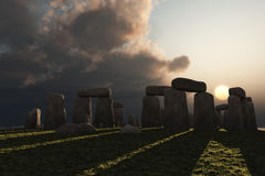 Stonehenge winter sun Stock Images