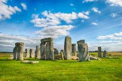 Stonehenge z niebieskim niebem, Zjednoczone Królestwo Fotografia Royalty Free