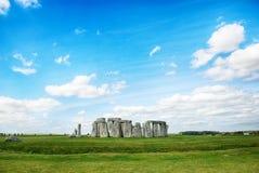 Stonehenge z niebieskim niebem, Zjednoczone Królestwo Obrazy Stock