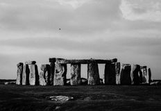 Stonehenge zabytek przy Salisbury samolotami Zdjęcie Royalty Free