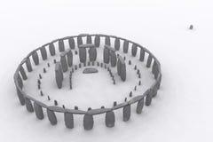 Stonehenge zoals het was Royalty-vrije Illustratie