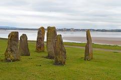 Stonehenge zoals Stenen Stock Fotografie
