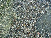 Stonel na terra molhada com água Imagem de Stock Royalty Free