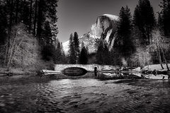 Stoneman Bridge and Half Dome Stock Photos