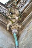 Stonemason Gargoyle Over Drain Royalty Free Stock Images