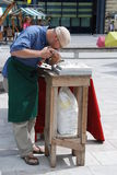 Stonemason at work Royalty Free Stock Photo