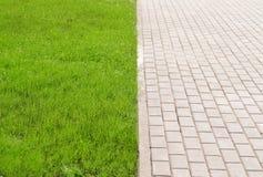 Stonepath och gräs Royaltyfri Foto