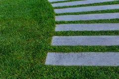 Stonepath z trawą Zdjęcia Royalty Free