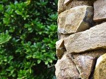 Stonepillar in Barcelona in park royalty free stock image