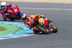 Stoner and Ellison pilots of MotoGP Stock Photos