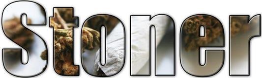 Stoner Logo With Dobbie & Bud Inside Lettering High Quality arkivbild