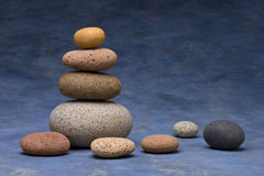 Stones Rock Stack Background Stock Photo