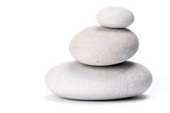 Stones. Isolated on white background Stock Photo