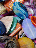 Stones. Miscellaneous decorative stones of varying composition and design stock image