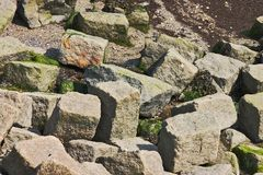 Stones. Random stones at the seaside of a dike Royalty Free Stock Photography