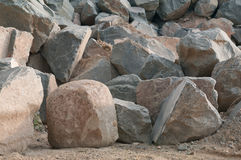 Stones. The big stones of a granite lie in a heap Stock Images