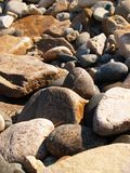 The stones. Sun stones on the seaboard Stock Photo