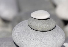 Stones. Ordered sea stones in a coastal line Royalty Free Stock Photo