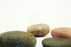 Stones... The Four Stones.. In White Background royalty free stock photo