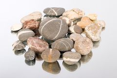 Stones. Group of stones on a mirror Stock Image