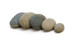 Stones. A number from stones on a white background royalty free stock images