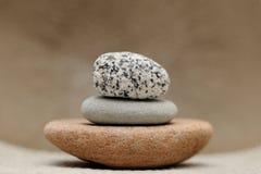 Stones. Horizontal image of 3 stones Royalty Free Stock Photo