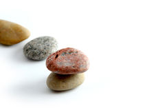 Stones. Colorful Stones with white background stock photography