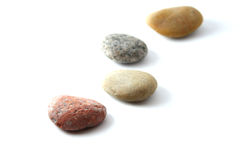 Stones. Colorful Stones with white background royalty free stock image