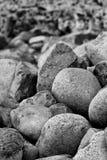 Stones. Black and white stones, rocks Royalty Free Stock Photo