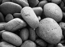 Stones. A pattern of round sea stones Royalty Free Stock Photos