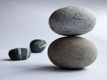 Stones. Two white granite stones balance Royalty Free Stock Images
