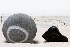 Stones. In small Japanese garden Stock Photography