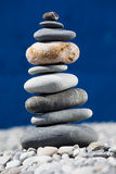 Stones. A pile of rocks stacked on the beach Stock Photography