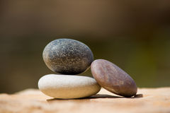 Stones. Color stones on the blur background. Close-up Stock Photography