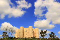 Stones of Apulia.Castel del Monte: the main facade.-ITALY(Andria)- Stock Photo