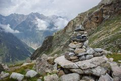 Stones architecture in mountains Russian Federation, Caucasus,. July 2012 Royalty Free Stock Photo